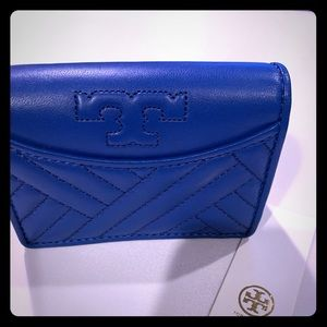 TORY BURCH Soft Blue leather wallet